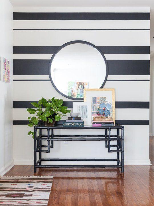 Редуване на дебели и тънки вълни на райето е поднодящо за модерен дизайн на дома