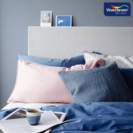 Сиво синя спалня
